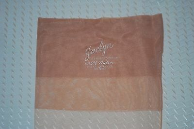"4 Pair New 9 1/2 33"" Three Brands Full Fashion Beige Vintage Nylon Stockings"