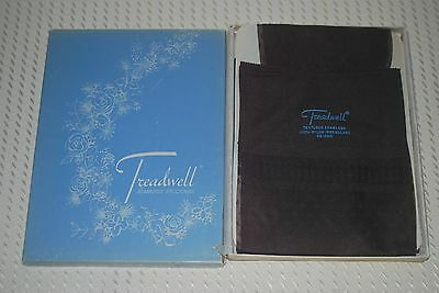 "3 Pair New 10 30"" ""Treadwell"" RHT Textured Diamond Print Vintage Nylon Stockings"