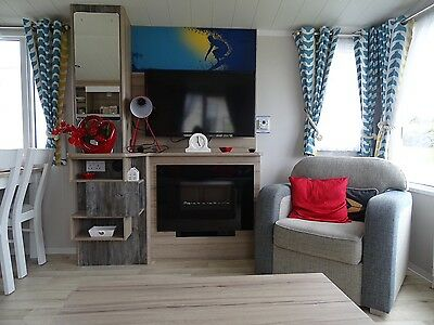 static caravan for hire on Havens Perran Sand holiday park Perranporth Cornwall
