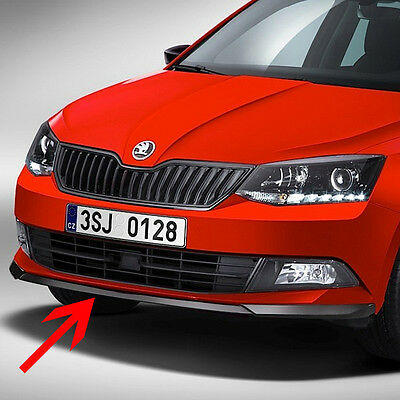 Front bumper spoiler Monte Carlo Skoda Fabia III htb/estate, painted black magic