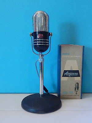Vintage 1960S Argonne AR-57 Microphone With Stand RCA Shure Electro Voice Old