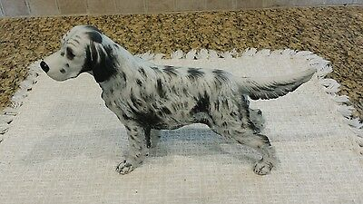 Elegant ENGLISH SETTER Spotted dog Figurine Statue Porcelain Collectible