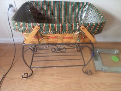 Longaberger  Wrought Iron  Treasures Stand Yuletide Treasures Basket Cobmo