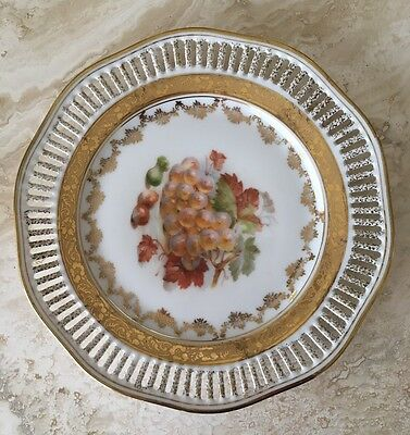 Vintage Winterling Germany Reticulated China Plate