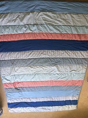 Laura Ashley Blue/Red Single Quilt Bedspread