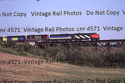 Original Kodachrome Slide VIA CNR Canadian National FP9A 6514 Paris Brantford