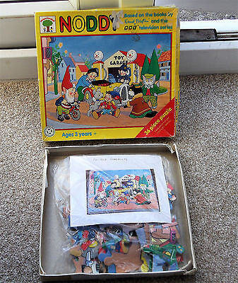 Vintage boxed card NODDY jigsaw from E. Blyton story.  Complete. Age 3+