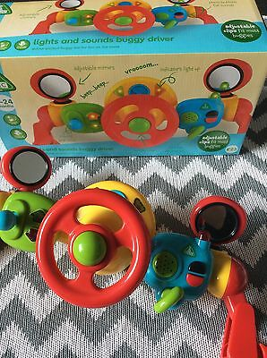 🍼Bnwt Boxed New £25 Baby 6 24 Month Lights And Sounds Buggy Driver Elc Gift Toy
