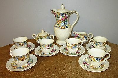 ERPHILA BRIGHTON CHEERY CHINTZ mini tea set 17 pc set
