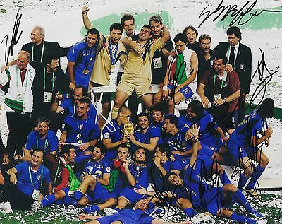 Italy World Cup 2006 Photo Hand Signed By 8 Stars Inc Pirlo Buffon Del Piero