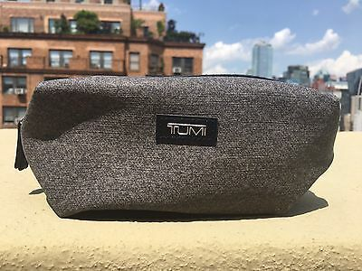 Delta Airlines Business Class Gray Soft TUMI Amenity Kit - New, not sealed