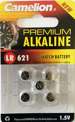5pcs AG1 LR621 364 Button Cell Coin Alkaline Battery 1.5V Watch Toy 164 SR621W