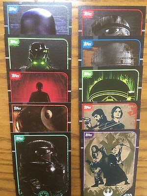 Topps Star Wars: Rogue One Full Stcker Card Set 203-212