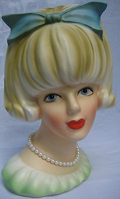Wonderful Head Vase Official Doris Day By Inarco 1960's Movie Star Headvase