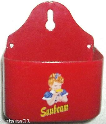 Sunbeam Bread Match Holder Ltd Ed Advertising Porcelain Match Safe Free Shipping