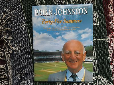 Forty-Five Summers -  Hand Signed By Brian Johnston - 1991 Hb Dj Book