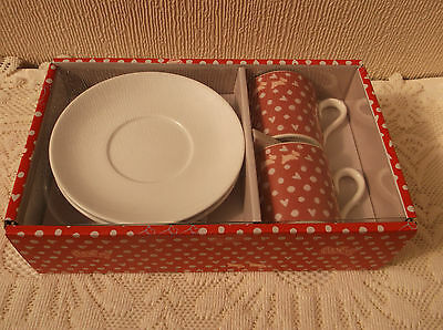 Radley London 2014 set of 2 coffee cups and saucers