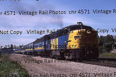 Original Kodachrome Slide VIA CNR Canadian National FPA4 6775 Woodstock Ontario