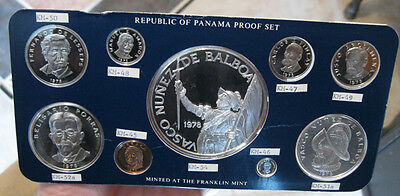 Panama - 1978 Silver Proof Set (9 Coins - High Silver Content)