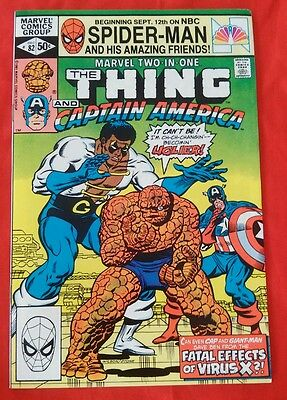 Marvel Two-In-One #82 Thing & Captain America #82 Marvel 1981 FN P&P Discounts