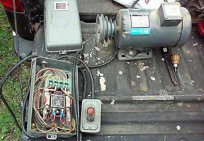 Good Working 3/4 HP Vintage Rockwell Electric Motor 3 phase lathe/bandsaw