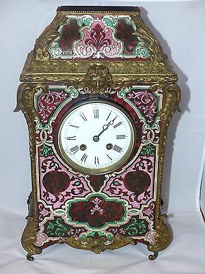 Large Antique French Boulle / Ormolu Ebonised faux Tortoiseshell Bracket Clock
