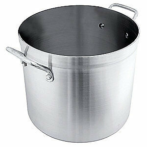 CRESTWARE Heavy Duty Stock Pot,30 qt,Aluminum, HPOT30