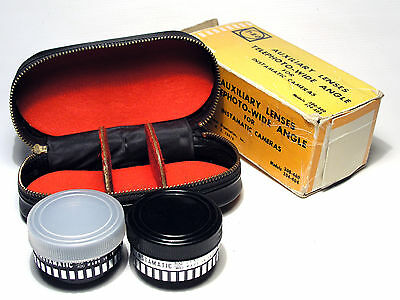 Auxiliary Lenses Telephoto Whide angle for Instamatic cameras mod. 300 400