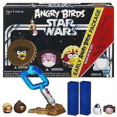 Star Wars Angry Birds Early Pack game in hand Great Crossover game Luke Leia