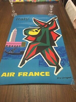 Vintage Air France Italy Travel Poster Guy Georget