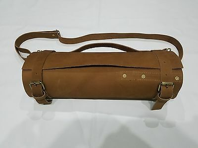Real Pure Tan Leather Chef Knives Wallet/Pouch/Bag/Roll/Storage