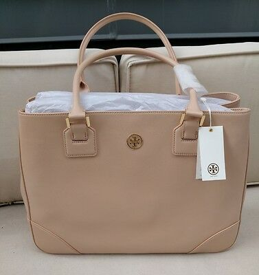New Tory Burch Robinson Leather Tote Bag Retails $575 - Pink