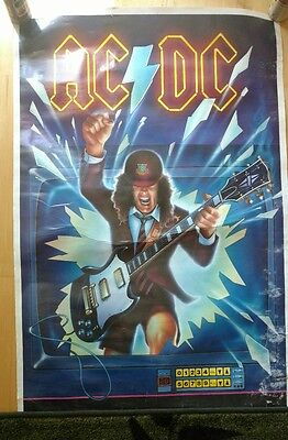 AC/DC ** rare Canada 1988 POSTER ** original rare VG condition
