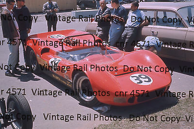 Original Slide McLaren MK2 Ford Race Car 39 Mosport Track Auto Racing Ontario