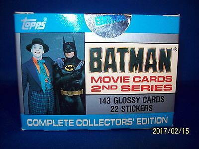 1989 Topps Batman Series 2 Movie Cards Complete Collectors Edition