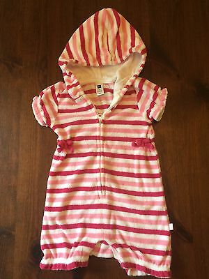 ade2420948653 Baby Gap Striped Terry Hooded Beach Cover Up Size 6 To 9 Months Newborn
