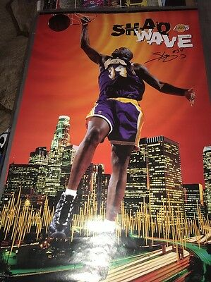 Shaquille O'neal Hand Signed 23X35La Lakers Poster