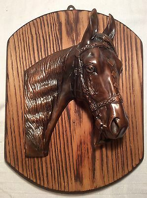 Bronze Horse Head Plaque , Beautifully Detailed !
