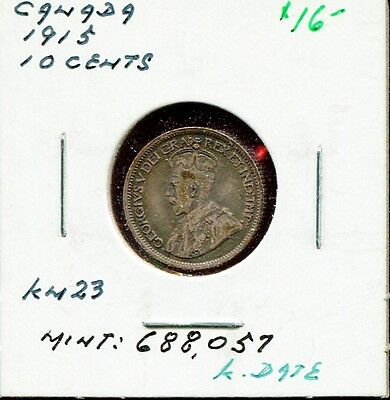 ** Canada 1915 - 10 Cents /// Key Date - Silver Coin **