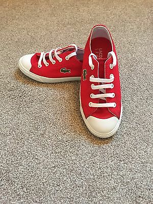 Children's Red Lacoste Trainers UK Size 12