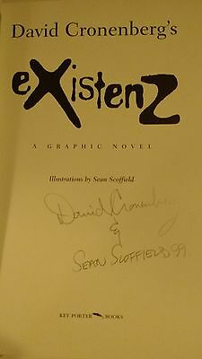 autographed book(graphic novel) by DAVID CRONENBERG and SEAN SCOFFIELD