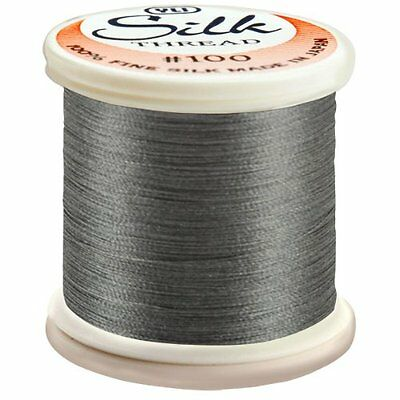 YLI Corporation 200 m 100 Weight Silk Thread, Dark Grey