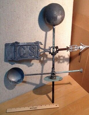 Vintage /antique  Lighting Rod Weathervane And  Ball