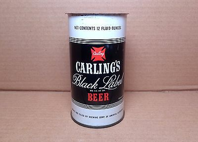 CARLING'S BLACK LABEL Flat Top Beer Can