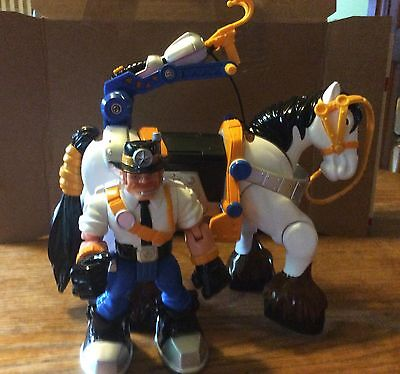 Fisher-Price Rescue Heroes Captain Clydes & Dale W/accessories - White - Rare