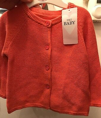 Marks & Spencer Baby Girls Pink Cardigan 3-6 Months Bnwt M&S BABY