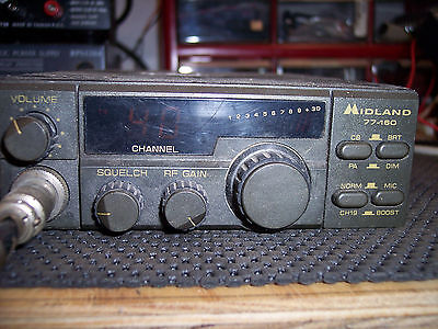 Midland 77-160  40ch CB Radio Road MAX With Regency microphone Tested Works!!!