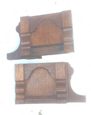 Vintage End Corbels Brackets Mantels Mantles Shelves Oak Quarter Swan