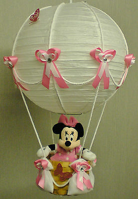 MINNIE MOUSE in hot Air Balloon Lamp-light Shade for Baby Nursery