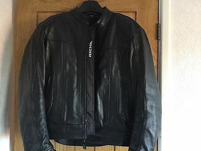 "Richa leather motorcycle jacket UK 46""."